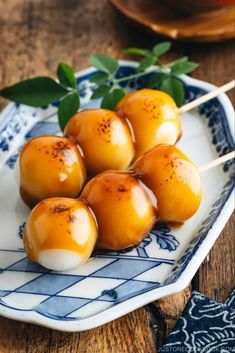 Make this delicious Japanese street snack at home! Mitarashi Dango is a traditional Japanese rice dumpling covered in a sweet soy glaze. #dango #japanesefood #ricedumplings #mochi #japanesestreetfood #riceballsrecipe | Easy Japanese Recipes at JustOneCookbook.com