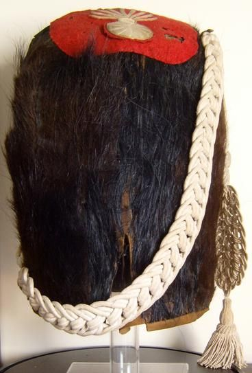 Extremely Rare Back View Of A French First Empire Old Guard Bearskin