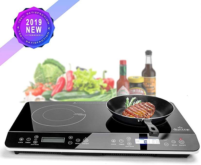 Duxtop 9620ls Lcd Portable Double Induction Cooktop 1800w Digital