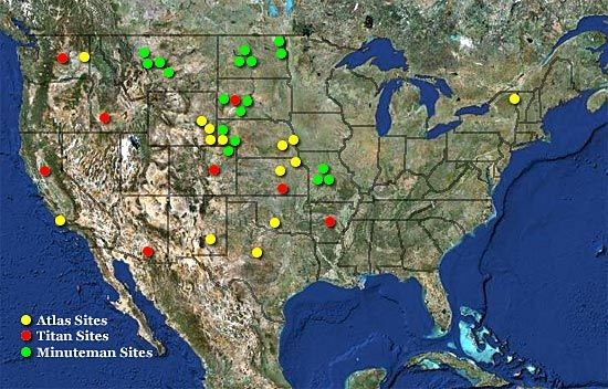 Map Of Where Us Icbms Were Located Aero And Space Nuclear War - Nuclear-war-us-map