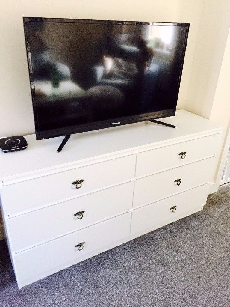 Ikea Kullen Sideboard Tv Stand Chest Of 6 Drawers White Only