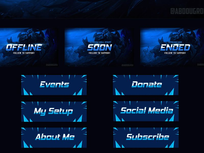 Twitch Banner Psd Template Psd Template Free Banner Template Psd Templates
