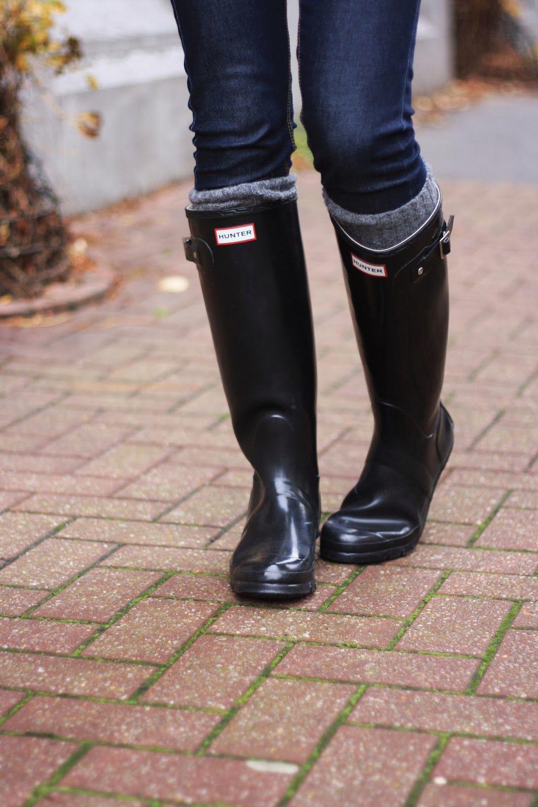 véritable conception adroite 2019 meilleurs bottes Hunter noir | Rain boots in 2019 | Black hunter boots ...
