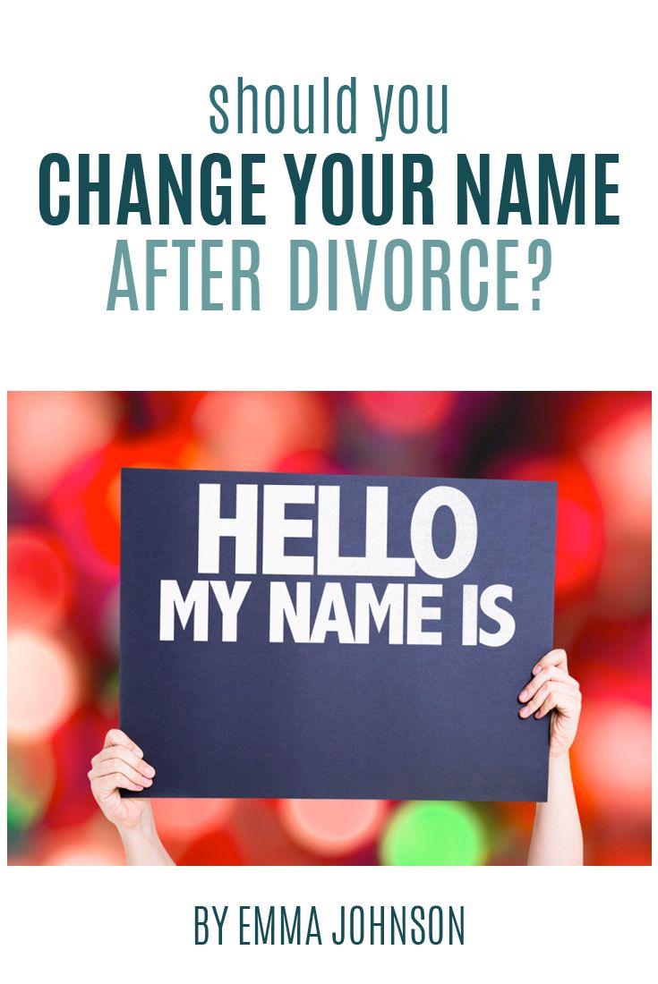 Should i change my name after divorce