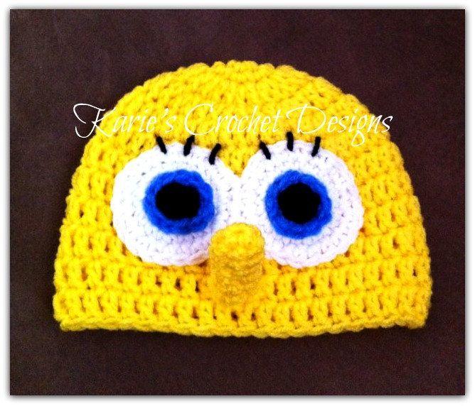 Famous Spongebob Crochet Hat Pattern Collection Sewing Pattern