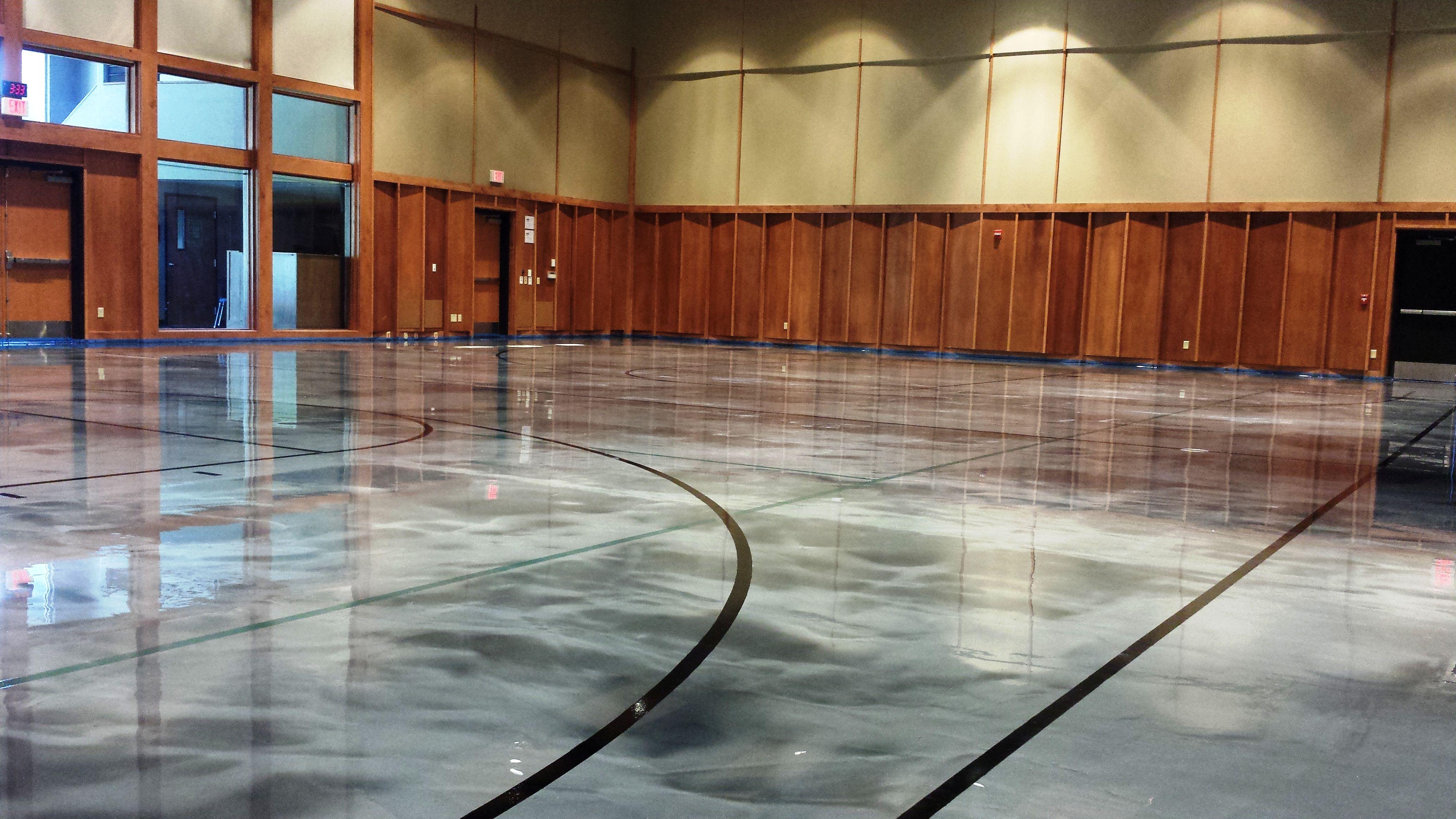 Elite Crete Reflector Epoxy Checkered Garage Floor With