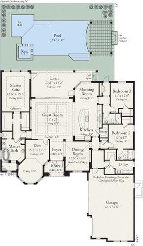 Coquina 1128 Drawings Tampa Arthur Rutenberg Homes Florida House Plans Home