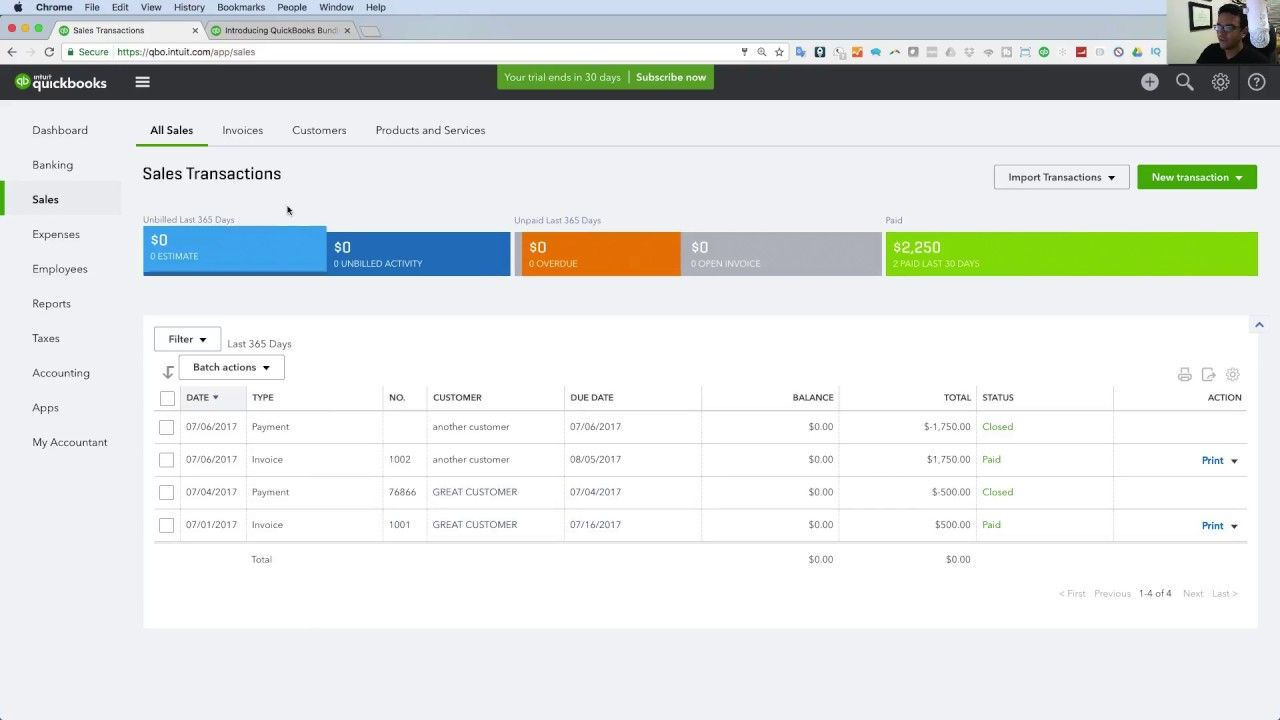 quickbooks online 2018 tutorial: getting started - the basics in 25