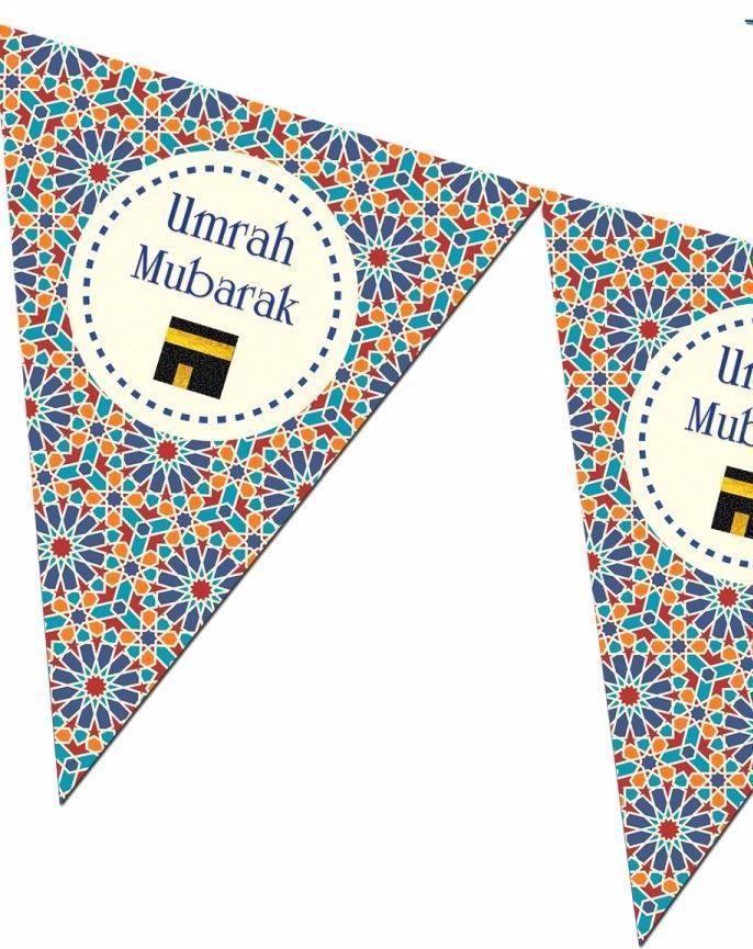 Umrah Banner: Umrah Mubarak Bunting Kit - Zellige