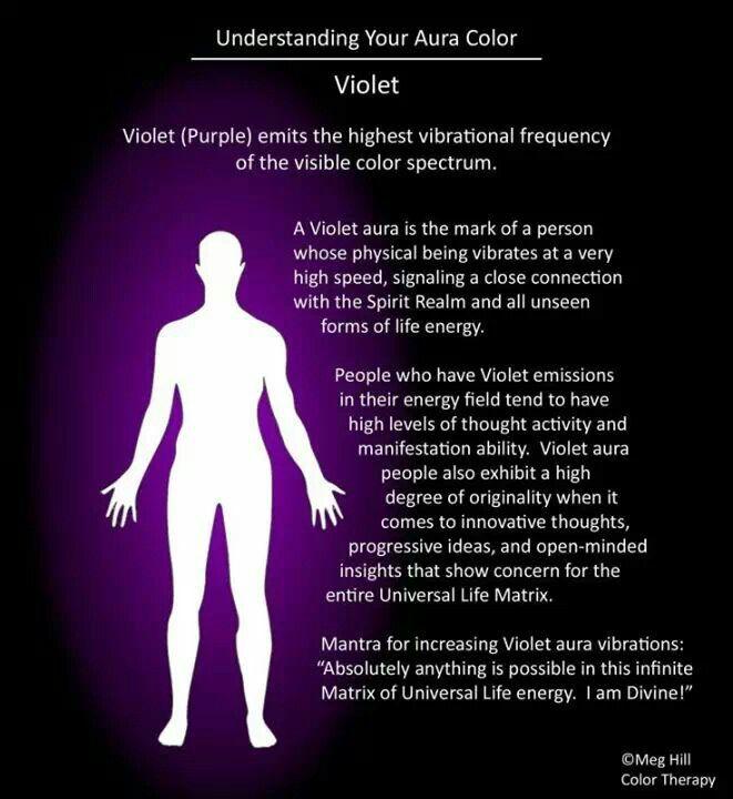 Violet Purple Aura Aura Colors Aura Colors Meaning Violet Aura