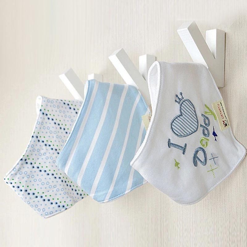 Hot Sell 3pcs Cotton Baby Bib Bandana Baby Babador Saliva Bavoir Towel Babadores