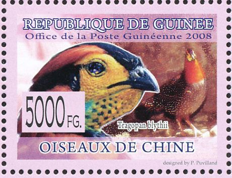 Blyth's Tragopan stamps - mainly images - gallery format