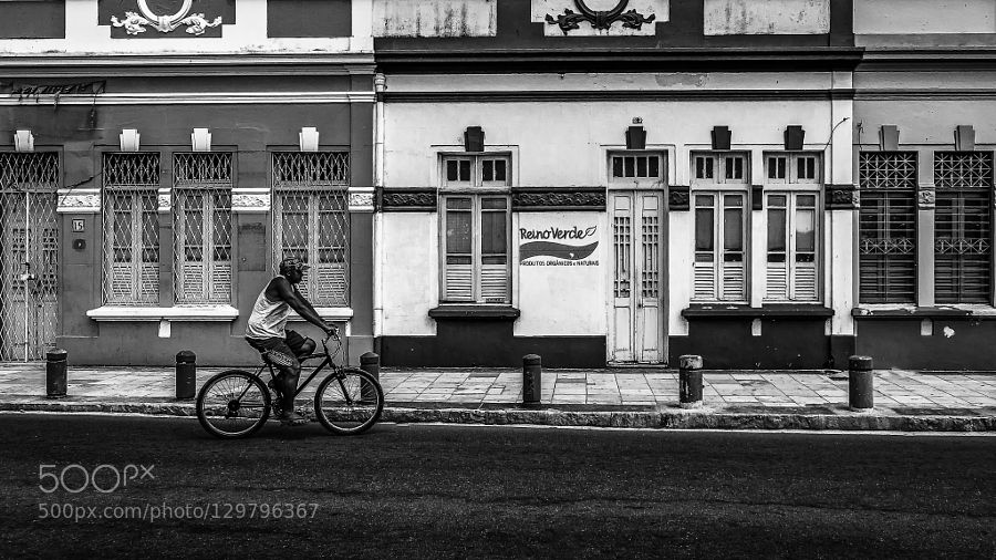 Alone on his bike by AFerreira