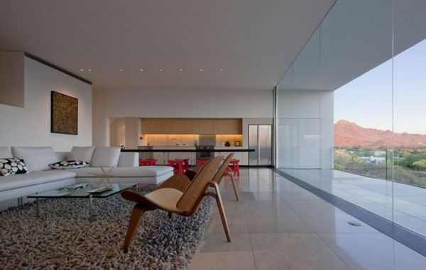 Einrichtung Ideen Holzstühle Teppich Kochinsel Architektur Pinterest