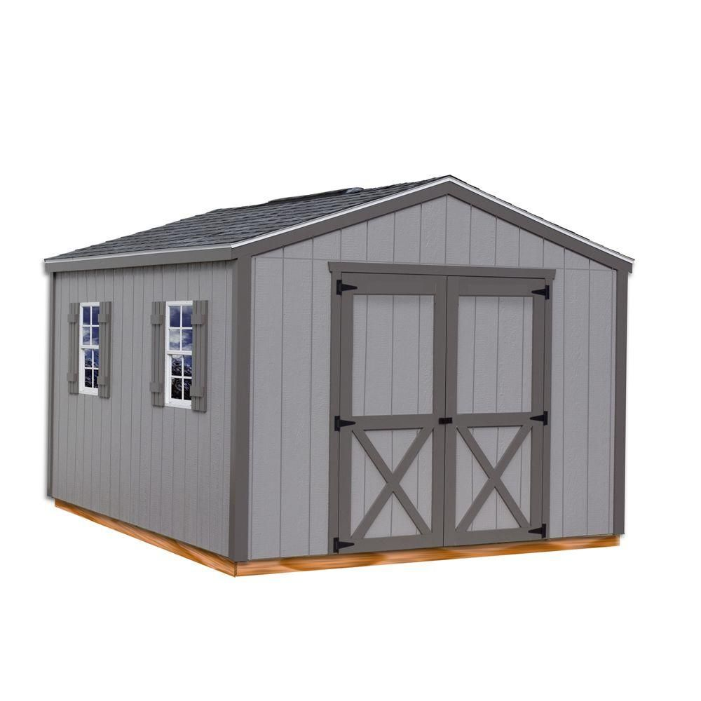 Best Barns Elm 10 ft. x 16 ft. Wood Storage Shed Kit with ...