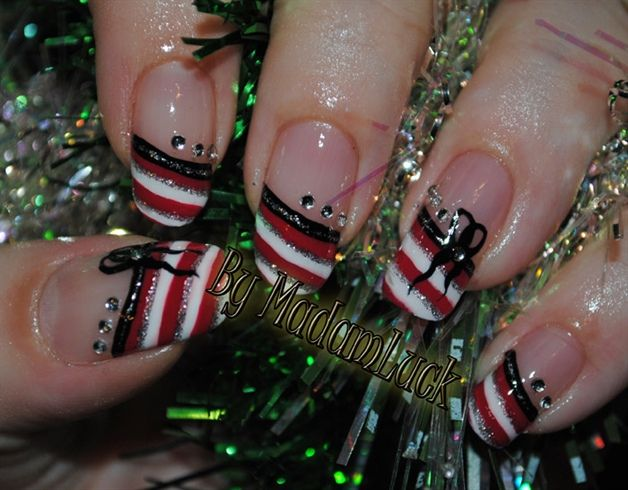 Candy Cane Inspired by MadamLuck - Nail Art Gallery nailartgallery ...