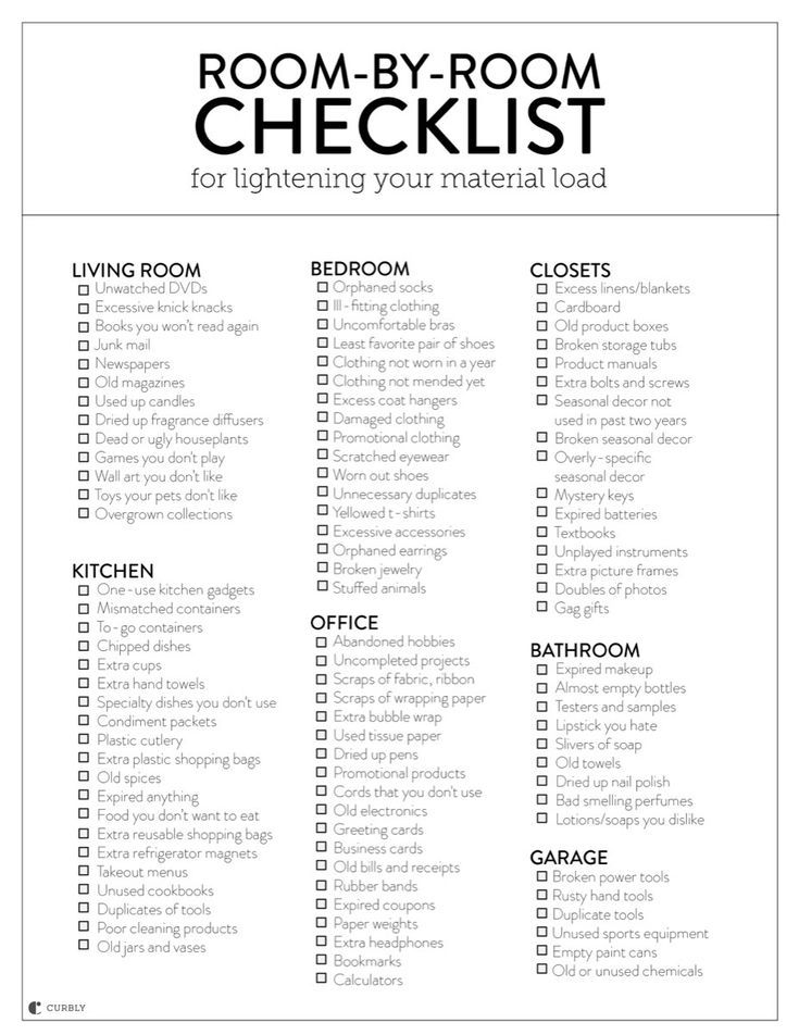 Photo of A Room-by-Room Guide for Lightening Your Material Load (With Printable Checklist!)