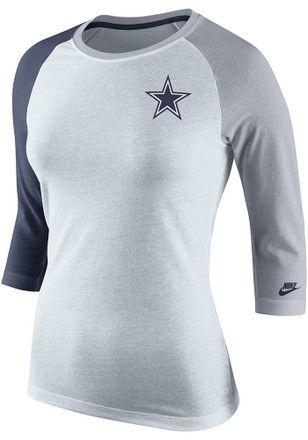 0b61460c7 Dallas Cowboys Womens Strong Side White T-Shirt