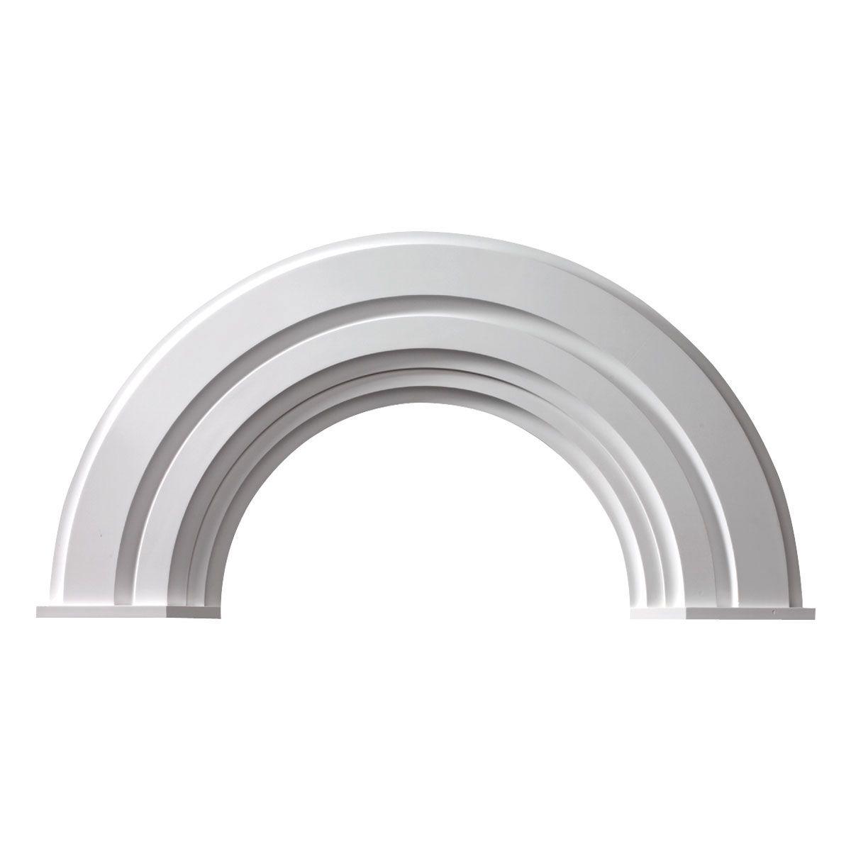 64 Inch Iw X 32 3 4 Inch Ih X 32 Inch Radius Half Round Arch W Decorative Trim End Caps 300 97 Arch Molding Arched Exterior Doors Interior Window Trim