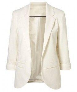 Stylish White Coat  b8a69d50292