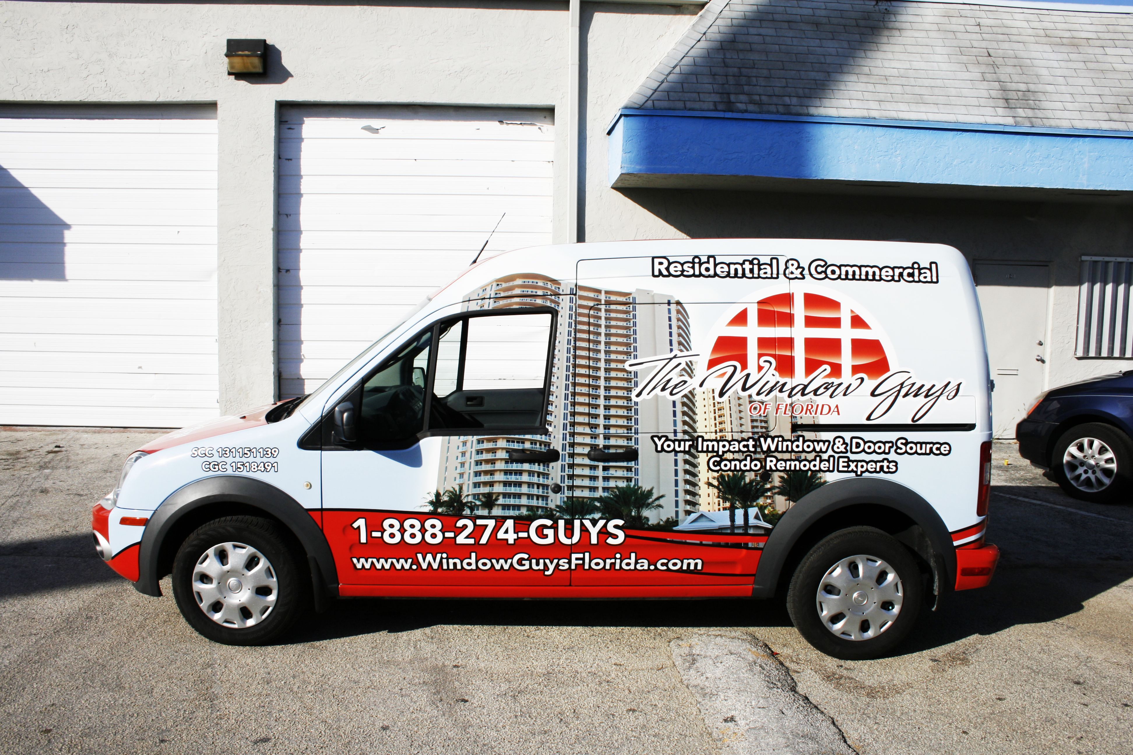 Ford transit connect cargo van 3m vinyl vehicle wrap west palm beach florida the window