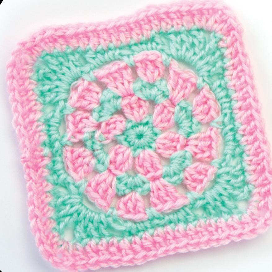 Circular granny square/ don\'t these colours just scream \