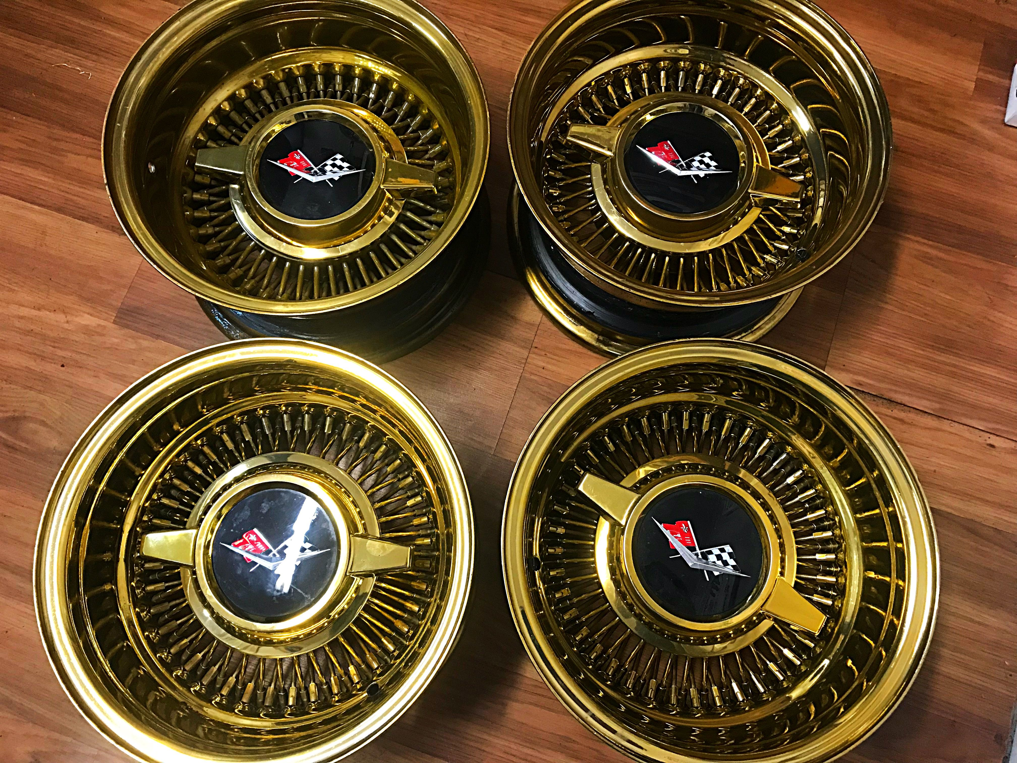 how much to powder coat wheels gold