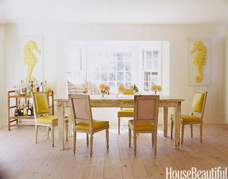 Bright and Beachy Dining Room