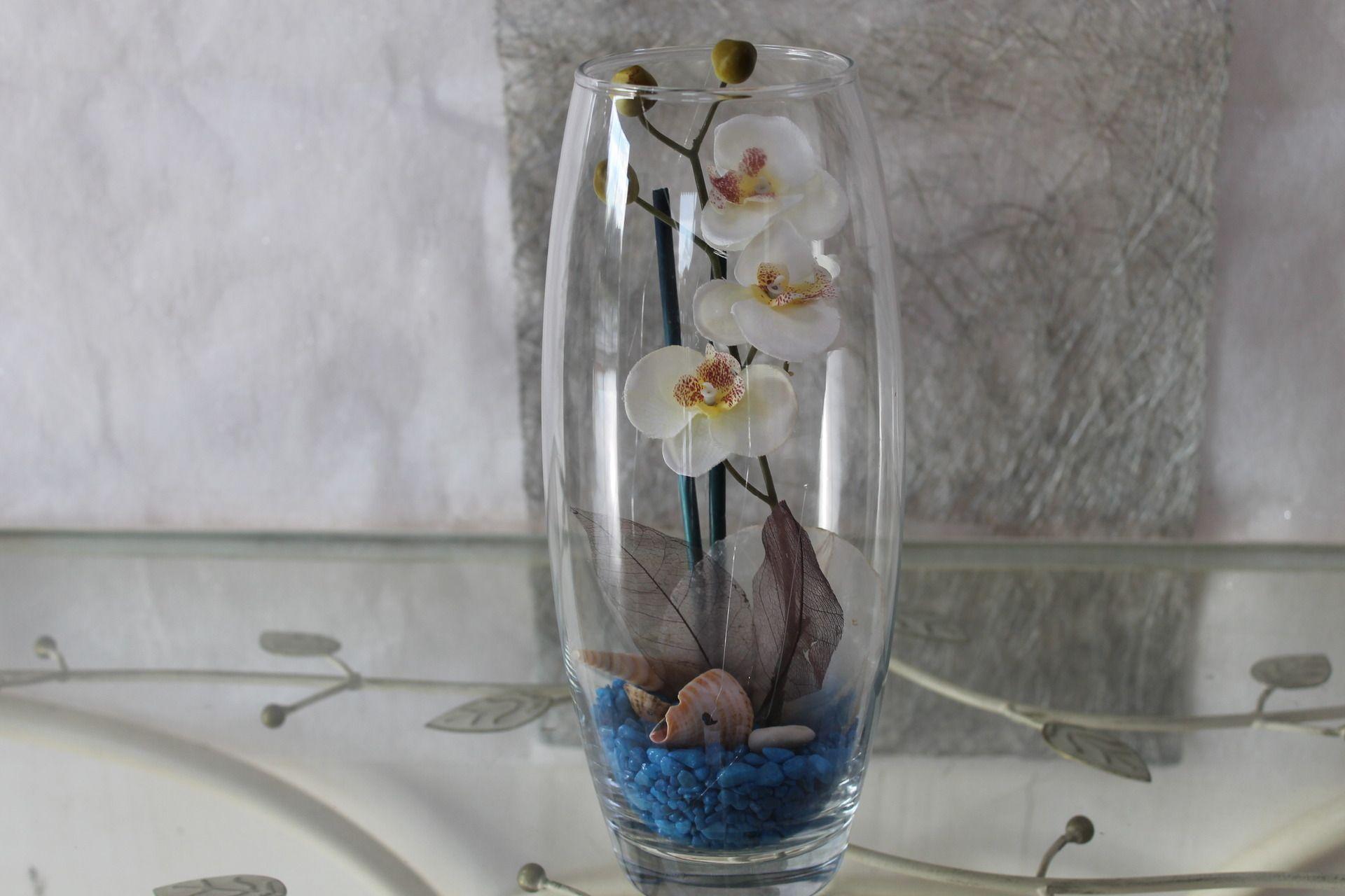 Orchidée Artificielle Dans Vase Transparent Accessoires De Maison Par S Pass Deco Vase Transparent Accessoire Maison Orchidées Artificielles