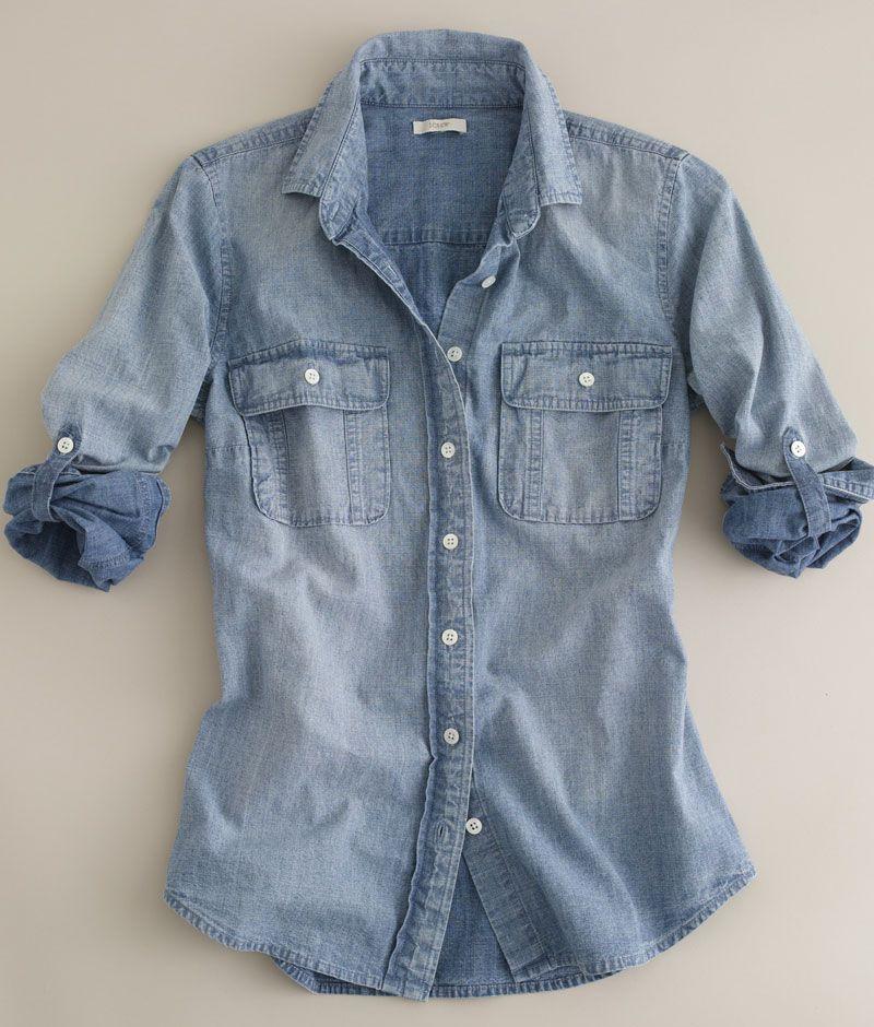 f2fae89bc43 Chambray denim shirt - JCrew.