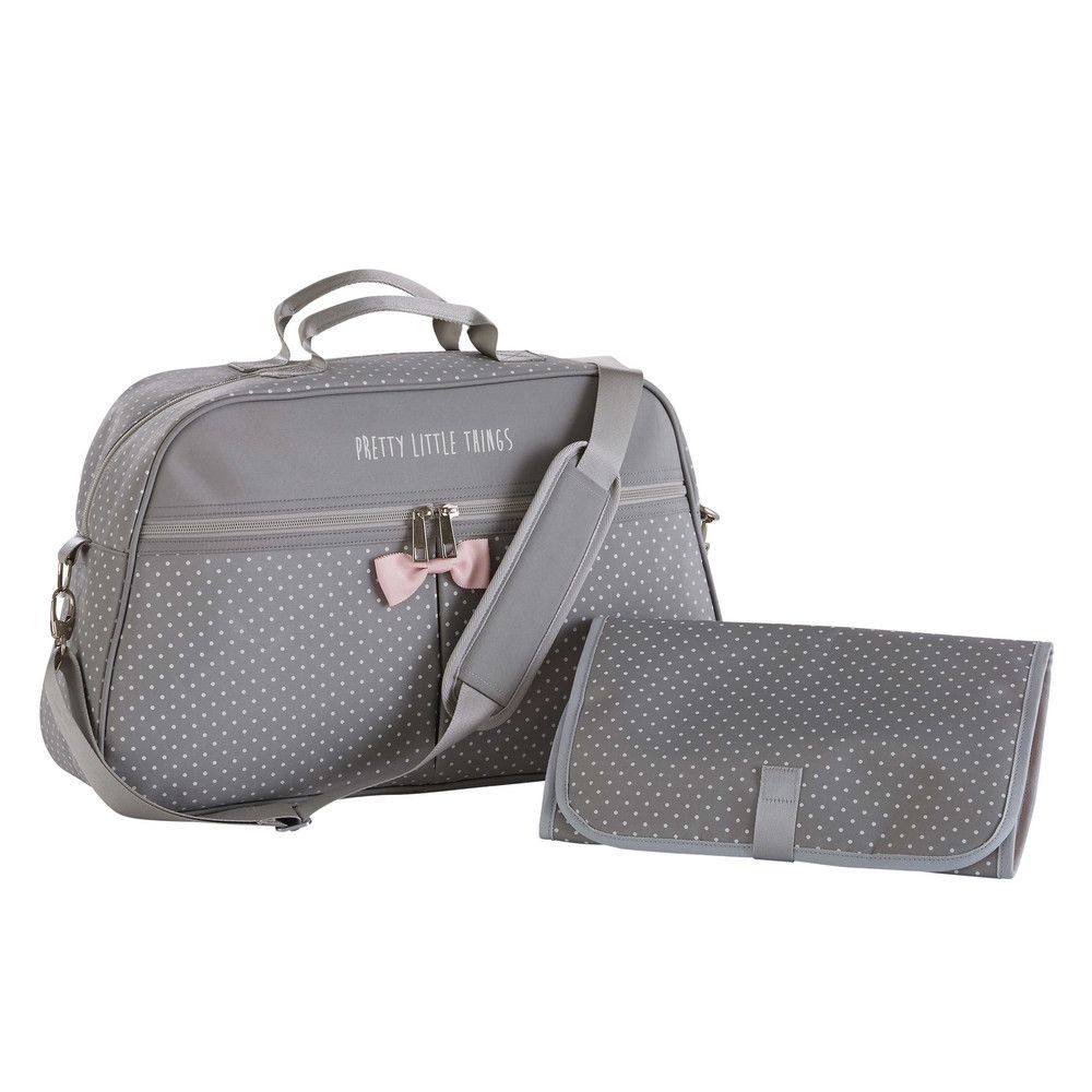 ed3a9a72aeec4 Grey Changing Bag with Polka Dots | Maisons du Monde Grey Changing Bag,  Baby Accessories