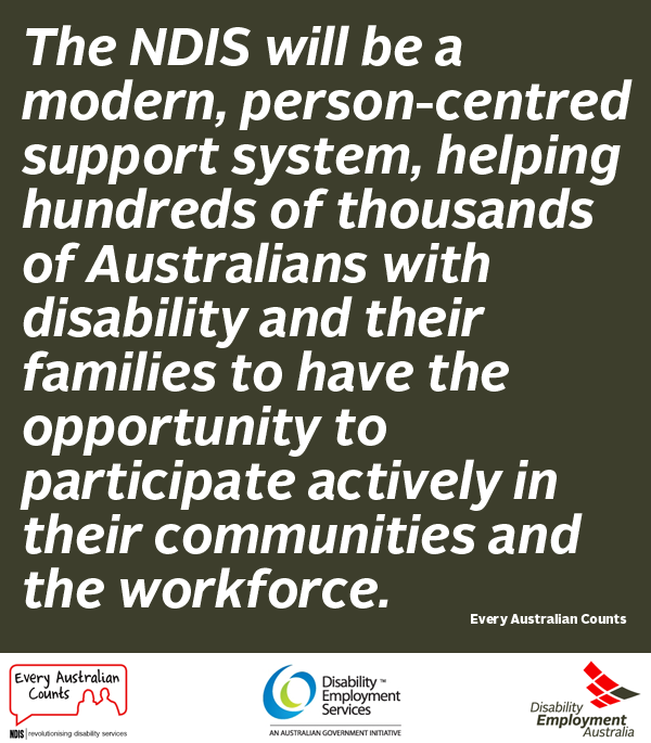 In support of the NDIS   Supportive, Disability services ...