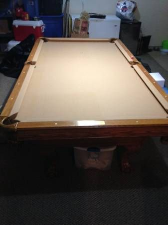 Camelot Billiards Table for sale. 8 ft long. Leather