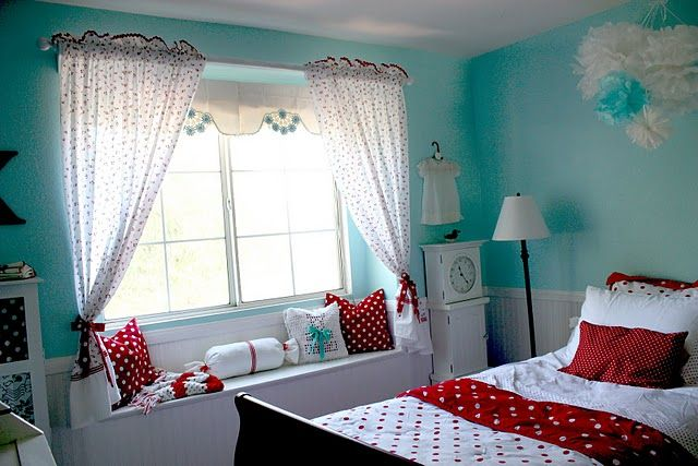 Aqua And Red Yay Themed Room For Future Daughter That Ll