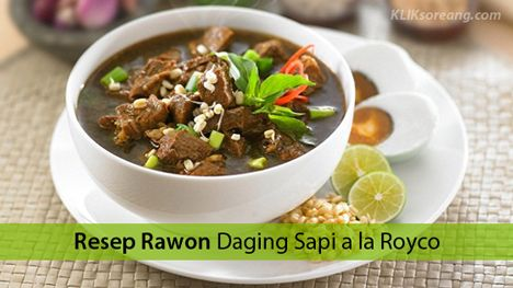 Resep Rawon Daging Sapi A La Royco Http Ift Tt 2vlgedv Resep Masakan Resep Daging Resep