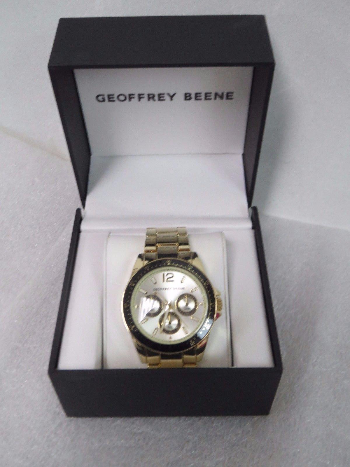 Geoffrey Beene Men's Chronograph Watch SR626SW GOLD TONE