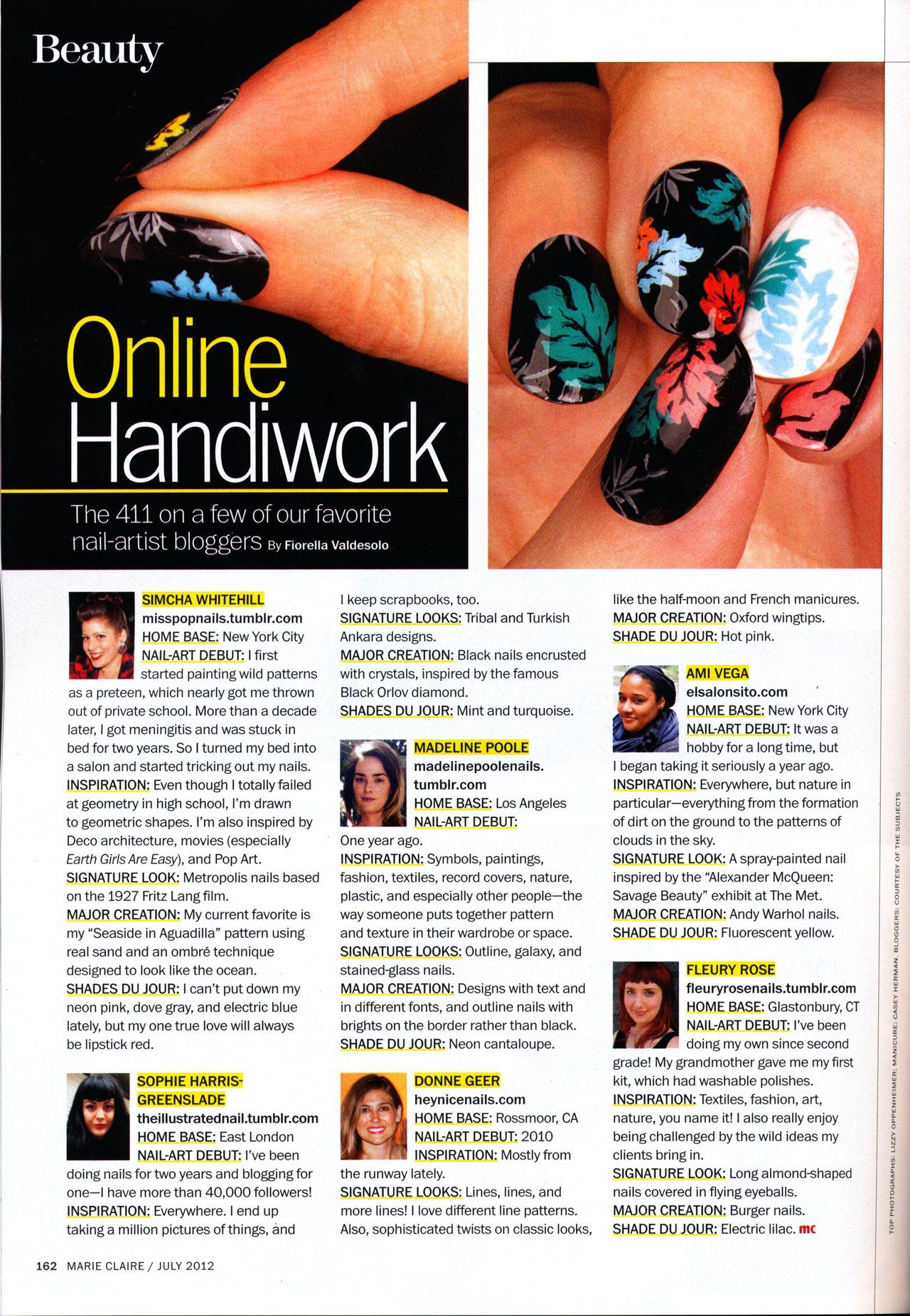 It S Such An Honor To Be Featured In The July Issue Of Marie Claire Magazine Posh Nails Nails Nail Artist