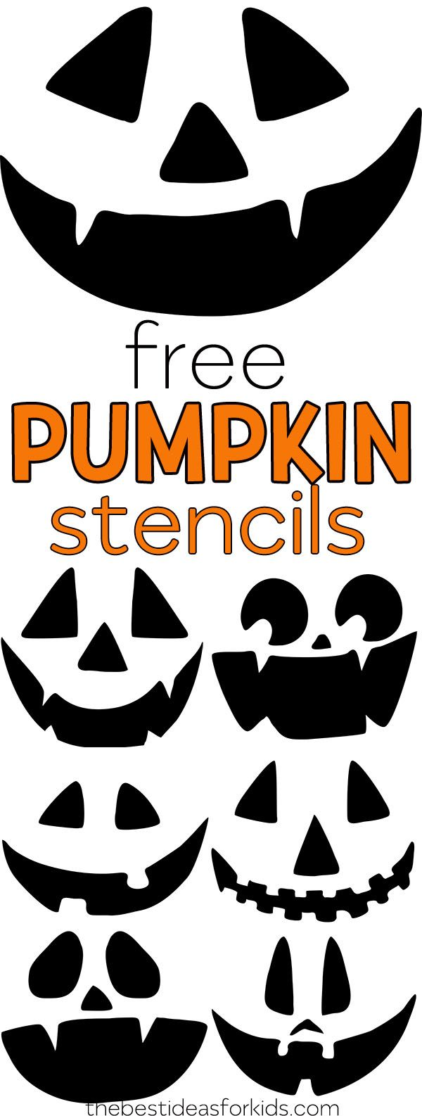 Free Pumpkin Carving Stencils - The Best Ideas for Kids