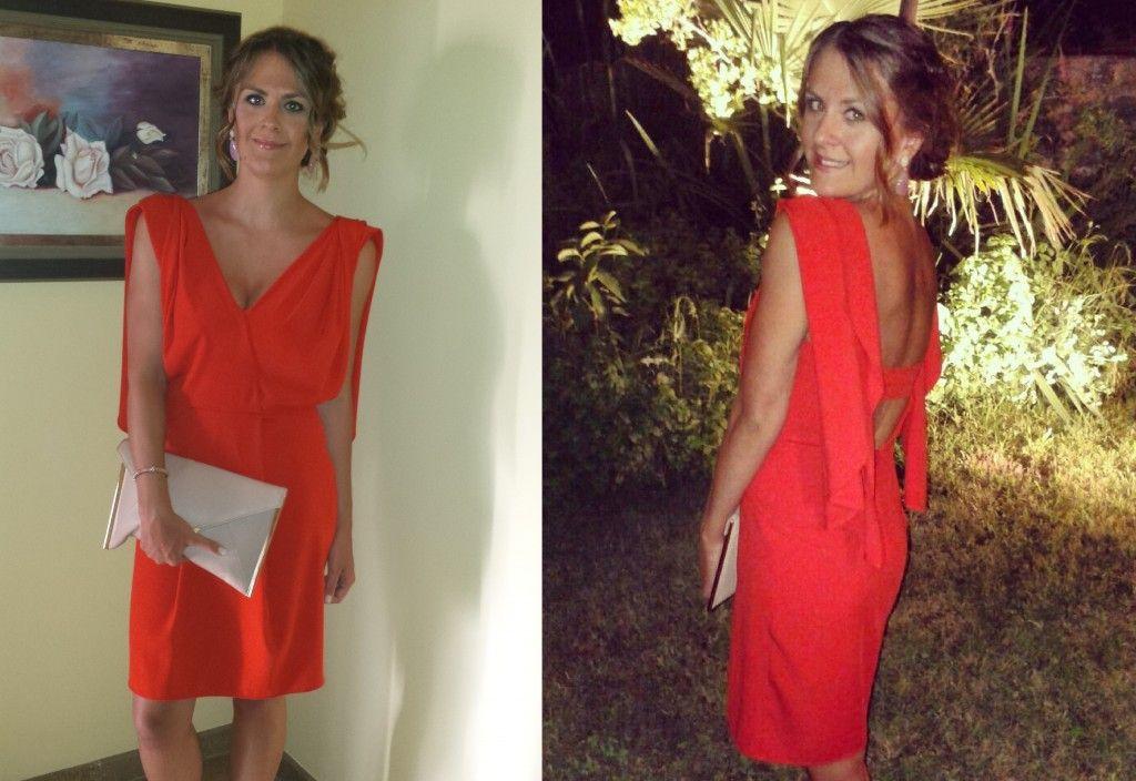 Vestidos de dia rojos
