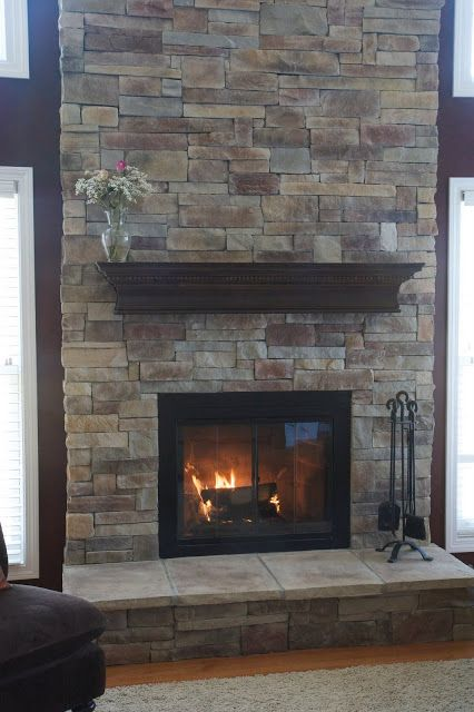 Covering A Brick Fireplace How To Cover With Stone Ideas
