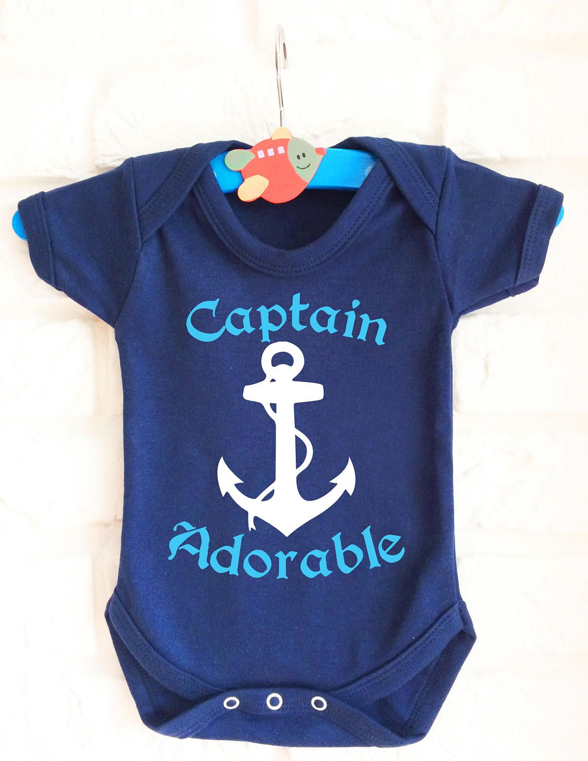 c5cee3bf3 Captain Adorable baby s blue bodysuit baby grow vest