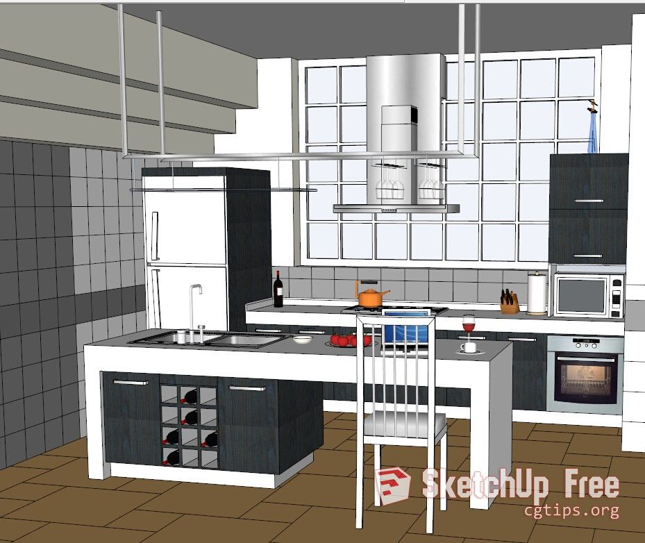 1311 Kitchen Sketchup Model Free Download