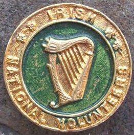 Irish Republican Irish Volunteers Harp Badge