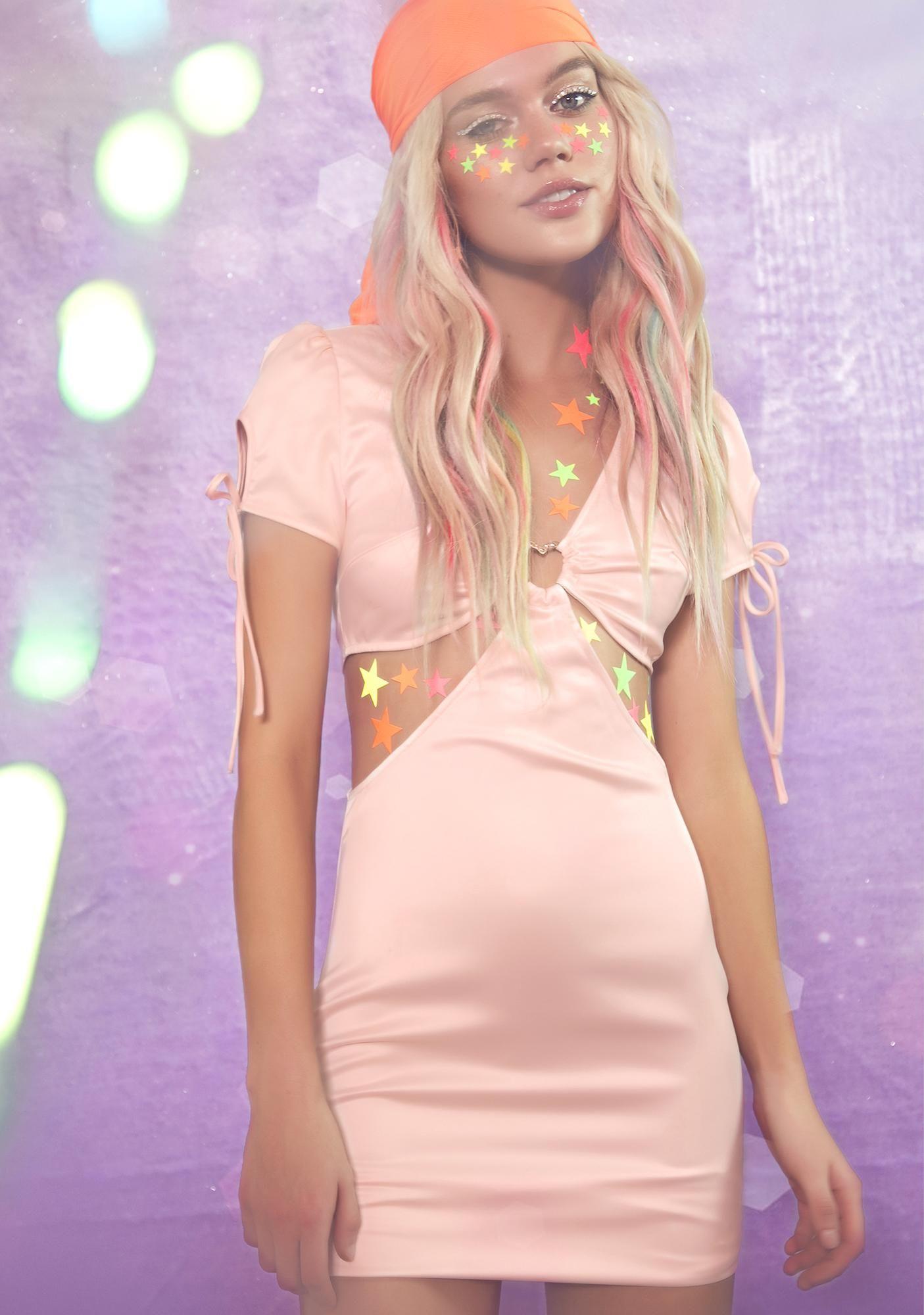 aa08da9d6d1 Sugar Thrillz Peachy Popsicle Cut Out Dress