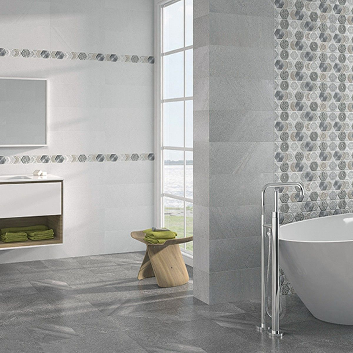 Globe Grafito Ceramic Floor Tiles Wall And Floor Tiles Tile Floor Patterned Floor Tiles