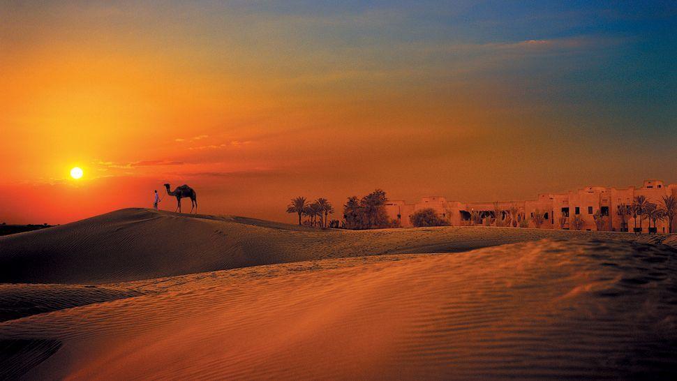 The Arabian Desert, Dubai, in front of the Bab Al Shams Desert Resort & Spa