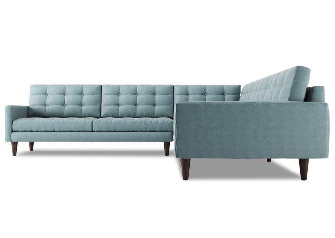 Tyler L Shape Sectional Sofa Mid Century Modern Sectional Sofa