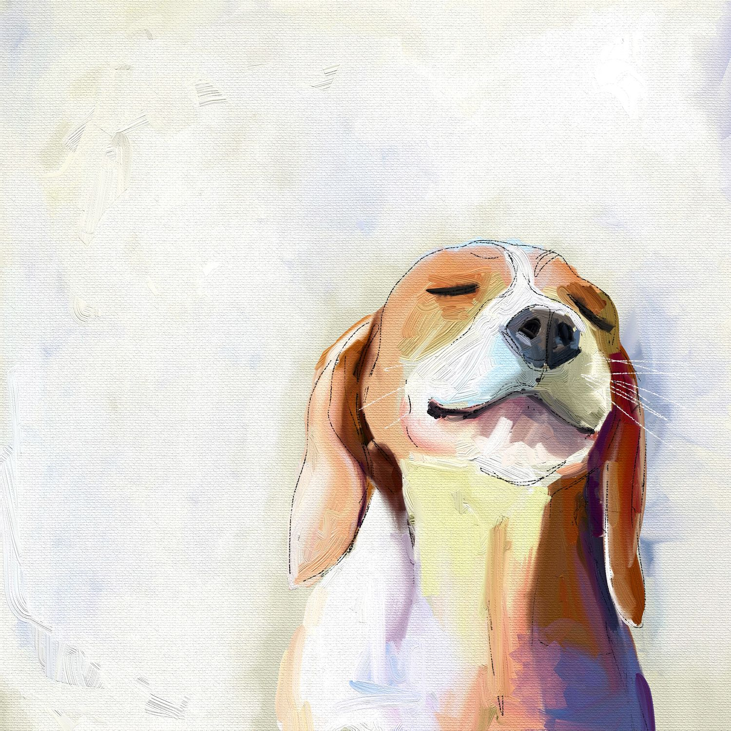 Best Friend Beagle Grin Wall Art Funny Art Beagle Art Dog Art
