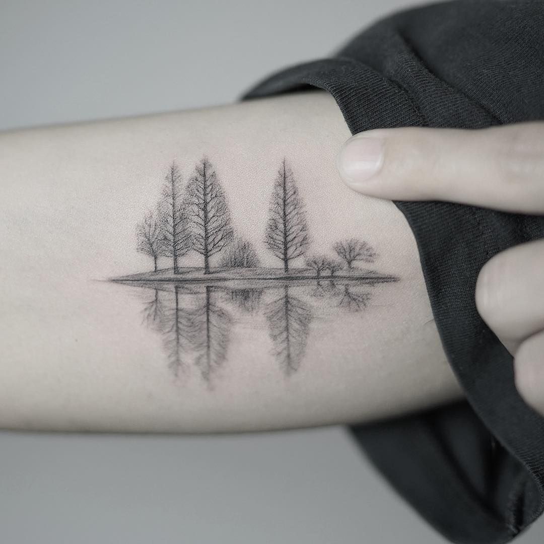 A quiet lake in winter | — Tattoos — | Pinterest | Tattoo ideen ...
