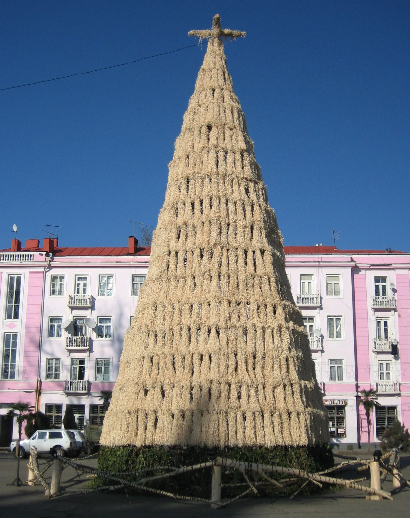 In Ozurgeti, Republic Of Georgia A Huge Chichilaki, Traditional Georgian